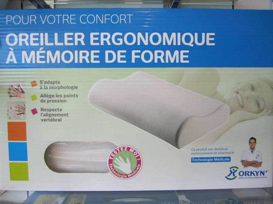 oreiller ergonomique m moire de forme pharmacie demange. Black Bedroom Furniture Sets. Home Design Ideas